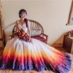 Vestido de noiva tie dye